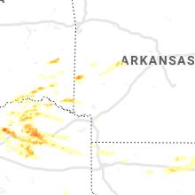 Regional Hail Map for Nashville, AR - Wednesday, June 19, 2019