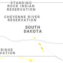 Regional Hail Map for Pierre, SD - Wednesday, June 19, 2019