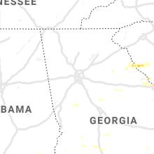 Regional Hail Map for Atlanta, GA - Thursday, June 20, 2019