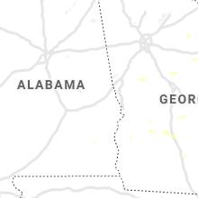 Regional Hail Map for Auburn, AL - Thursday, June 20, 2019
