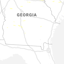 Regional Hail Map for Douglas, GA - Thursday, June 20, 2019