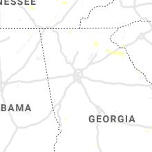 Regional Hail Map for Atlanta, GA - Friday, June 21, 2019