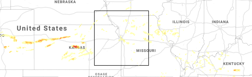 Interactive Hail Maps - Hail Map for Kansas City, MO