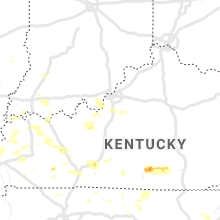 Regional Hail Map for Louisville, KY - Friday, June 21, 2019