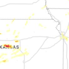 Regional Hail Map for Manhattan, KS - Friday, June 21, 2019