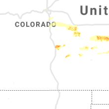 Regional Hail Map for Pueblo, CO - Friday, June 21, 2019