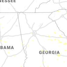 Regional Hail Map for Atlanta, GA - Saturday, June 22, 2019