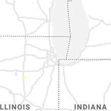Regional Hail Map for Chicago, IL - Saturday, June 22, 2019