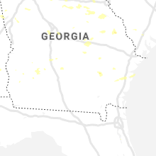 Regional Hail Map for Douglas, GA - Saturday, June 22, 2019