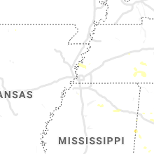 Regional Hail Map for Memphis, TN - Saturday, June 22, 2019