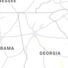 Regional Hail Map for Atlanta, GA - Sunday, June 23, 2019