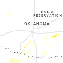 Regional Hail Map for Oklahoma City, OK - Sunday, June 23, 2019