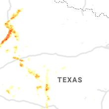 Regional Hail Map for Abilene, TX - Monday, June 24, 2019