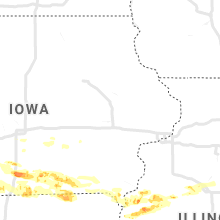 Regional Hail Map for Cedar Rapids, IA - Tuesday, June 25, 2019