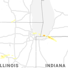 Regional Hail Map for Chicago, IL - Tuesday, June 25, 2019