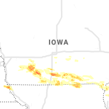 Regional Hail Map for Des Moines, IA - Tuesday, June 25, 2019