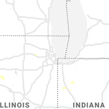Regional Hail Map for Chicago, IL - Wednesday, June 26, 2019