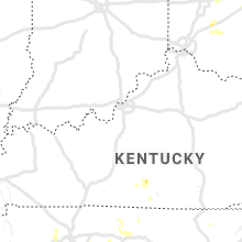 Regional Hail Map for Louisville, KY - Thursday, June 27, 2019