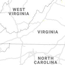 Regional Hail Map for Roanoke, VA - Thursday, June 27, 2019