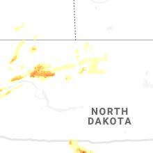 Regional Hail Map for Minot, ND - Friday, June 28, 2019