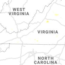 Regional Hail Map for Roanoke, VA - Friday, June 28, 2019