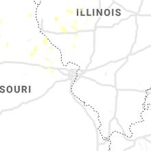 Regional Hail Map for Saint Louis, MO - Friday, June 28, 2019