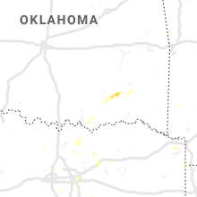 Regional Hail Map for Atoka, OK - Saturday, June 29, 2019