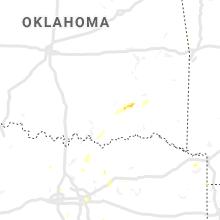 Regional Hail Map for Atoka, OK - Saturday, June 29, 2019