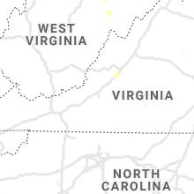 Regional Hail Map for Roanoke, VA - Saturday, June 29, 2019