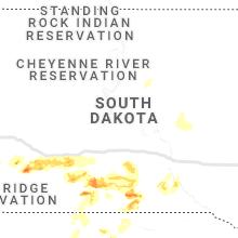 Regional Hail Map for Pierre, SD - Sunday, June 30, 2019