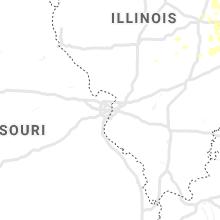 Regional Hail Map for Saint Louis, MO - Sunday, June 30, 2019