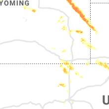 Regional Hail Map for Laramie, WY - Monday, July 1, 2019