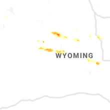 Regional Hail Map for Riverton, WY - Monday, July 1, 2019