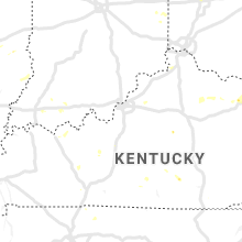 Regional Hail Map for Louisville, KY - Tuesday, July 2, 2019