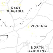 Regional Hail Map for Roanoke, VA - Tuesday, July 2, 2019