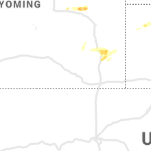 Regional Hail Map for Laramie, WY - Wednesday, July 3, 2019