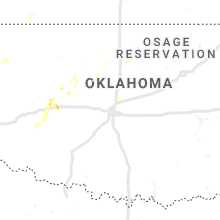 Regional Hail Map for Oklahoma City, OK - Wednesday, July 3, 2019