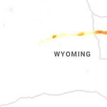 Regional Hail Map for Riverton, WY - Wednesday, July 3, 2019
