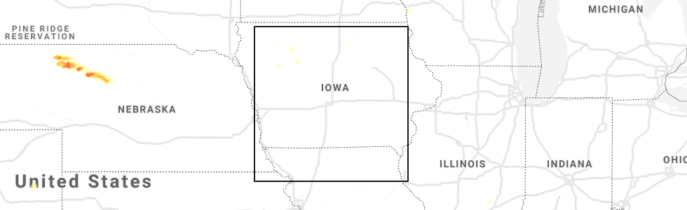 Hail Map for Des Moines, IA - Thursday, July 4, 2019 Des Moines Map on