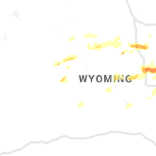 Regional Hail Map for Riverton, WY - Thursday, July 4, 2019