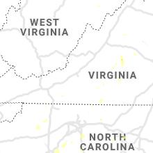 Regional Hail Map for Roanoke, VA - Thursday, July 4, 2019