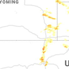 Regional Hail Map for Laramie, WY - Friday, July 5, 2019