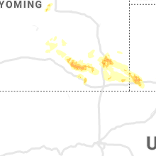 Regional Hail Map for Laramie, WY - Saturday, July 6, 2019