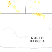 Regional Hail Map for Minot, ND - Sunday, July 7, 2019