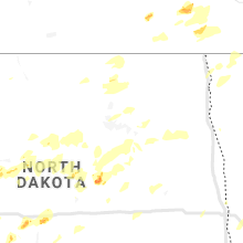 Regional Hail Map for Devils Lake, ND - Monday, July 8, 2019