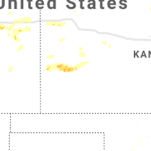 Regional Hail Map for Garden City, KS - Monday, July 8, 2019