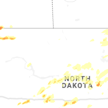 Regional Hail Map for Minot, ND - Monday, July 8, 2019