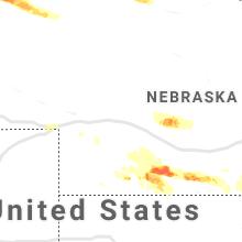 Hail Map for north-platte-ne 2019-07-09