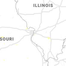 Regional Hail Map for Saint Louis, MO - Wednesday, July 10, 2019