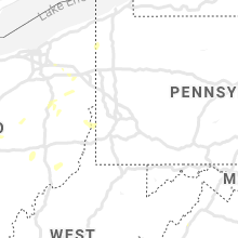 Regional Hail Map for Pittsburgh, PA - Thursday, July 11, 2019